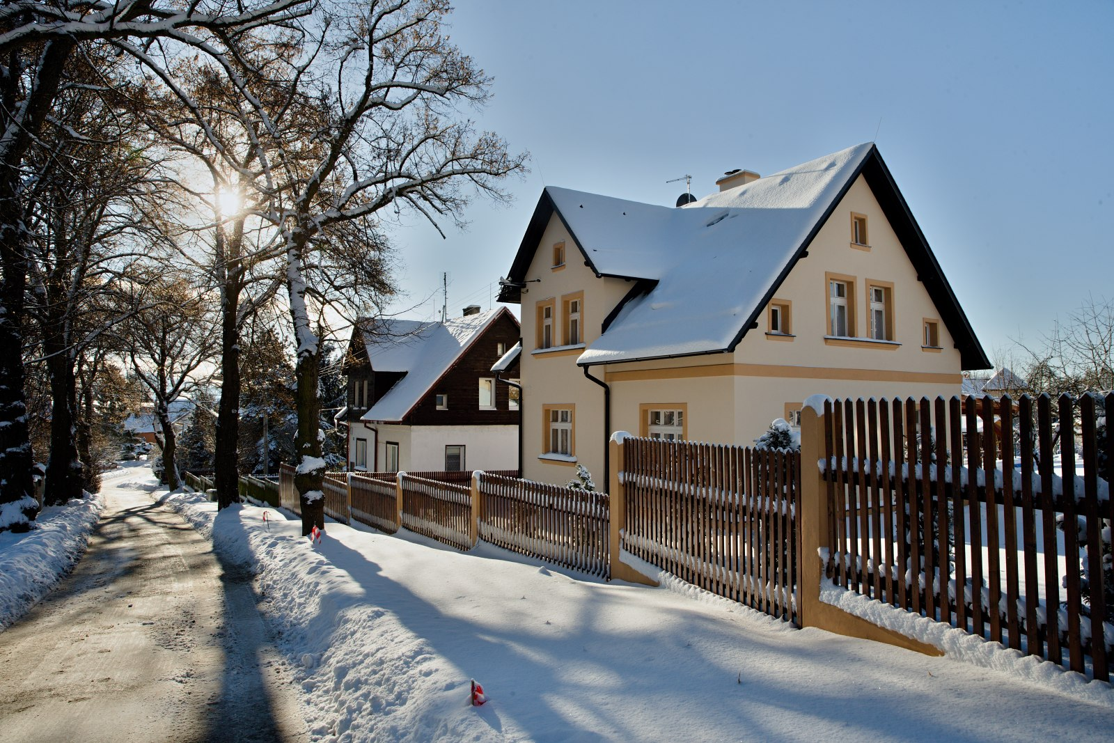 The guest house in winter